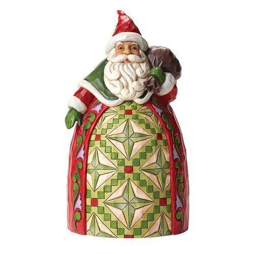 Mjikołaj z workiem, (goodwill to all), 4046765 figurka ozdoba świąteczna marki Jim shore
