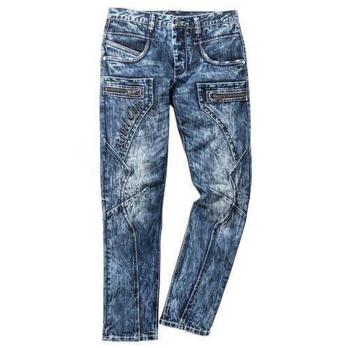 "Dżinsy Regular Fit Straight bonprix niebieski ""used"", jeansy"