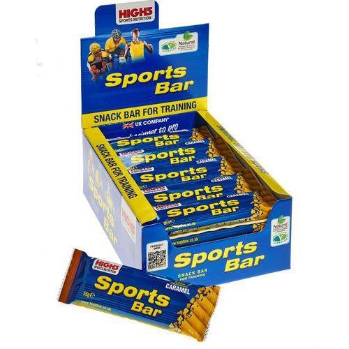High5 SportBar Żywność dla sportowców Caramel 25 x 55g żółty/niebieski 2018 Zestawy i multipaki