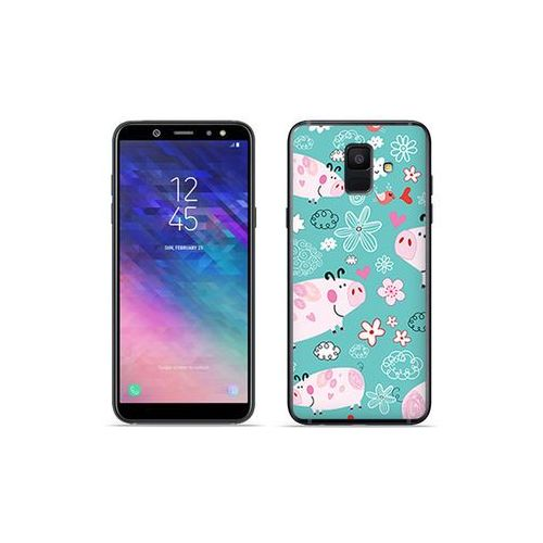 Samsung Galaxy A6 (2018) - etui na telefon Fantastic Case - różowe świnki