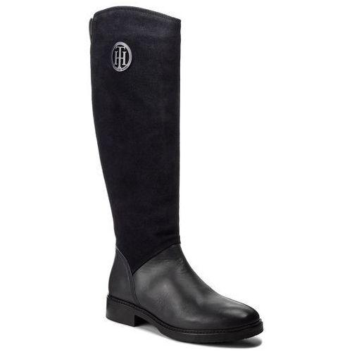 Tommy hilfiger Oficerki - basic th riding boot fw0fw03450 midnight 403