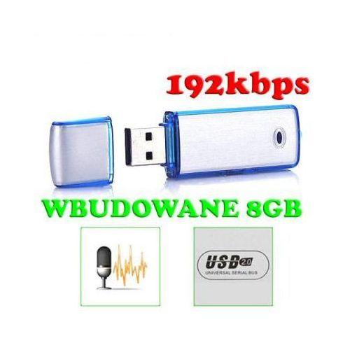 Mikro-Dyktafon/Rejestrator Cyfrowy Dźwięku, Ukryty w Pendrive 8GB (96h!). ze sklepu 24a-z.pl