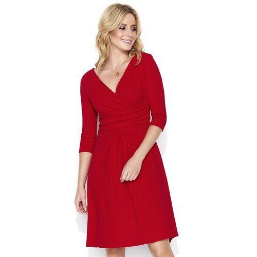 4e38ada1e0 Czerwona Dresowa Sukienka z Dekoltem V