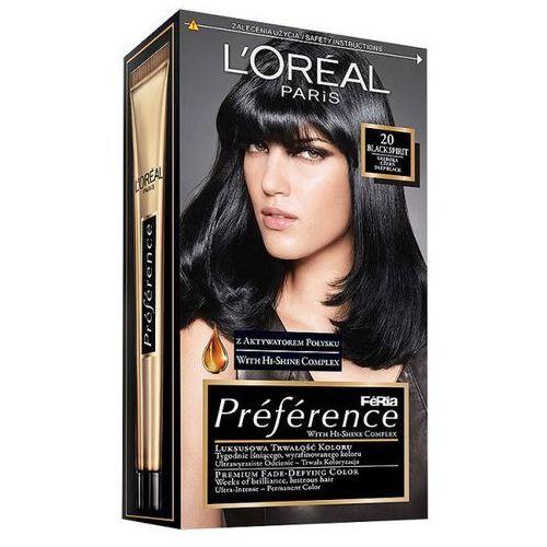 Farba do włosów Feria Preference - 20 Głęboka Czerń, L'Oréal