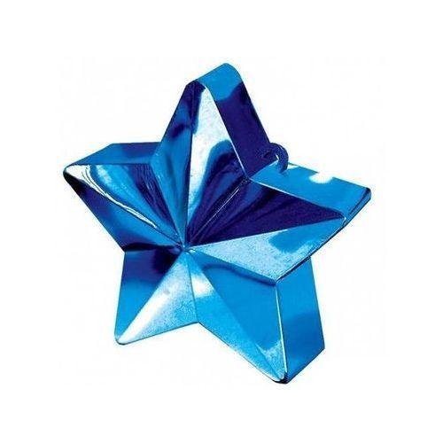 Amscan Obciążnik ciężarek do balonów napełnionych helem - gwiazda niebieska - 170 g.