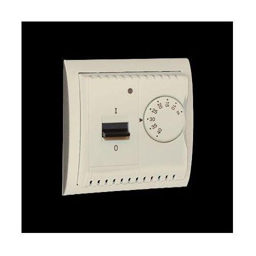 Kontakt-simon Regulator temperatury z czujnikiem wewnętrznym, 16a, 230v~. montaż na wkręty; beż