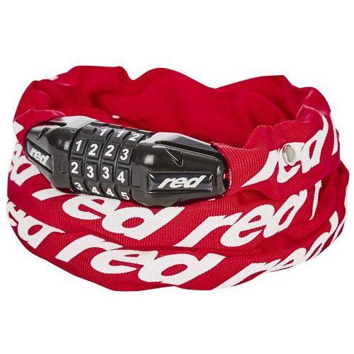 Red cycling products secure chain łańcuch rowerowy z zamkiem resetowalny, red 2019 zapięcia na szyfr (4052406192731)