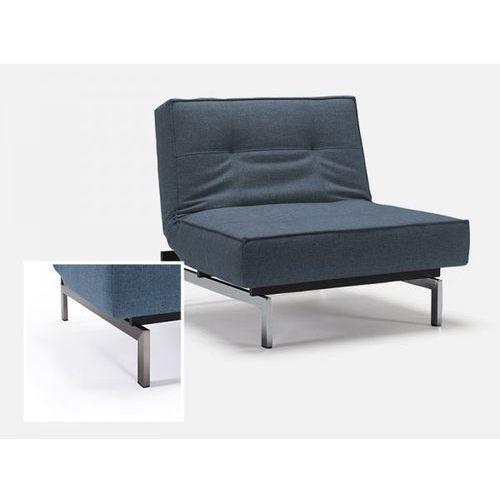 Fotel Splitback niebieski 525 nogi stalowe  741011525-741011-8-2, marki INNOVATION iStyle do zakupu w sfmeble.pl