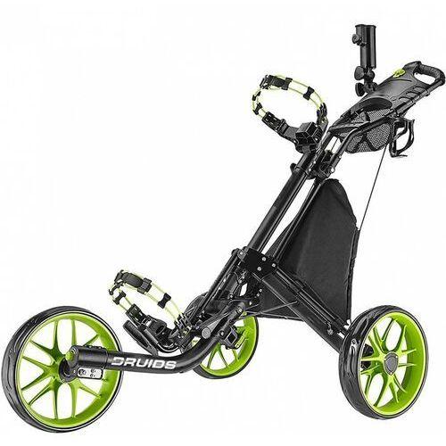 Manualny wózek golfowy druids compact ez carbon (czarno-limonka) marki Druids golf
