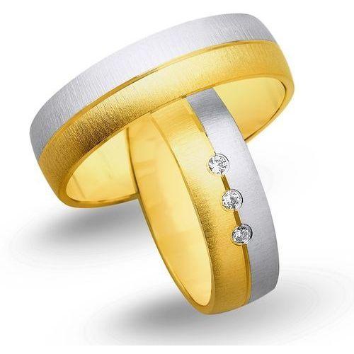Obrączki z żółtego i białego złota 6mm - O2K/035 - produkt dostępny w Świat Złota
