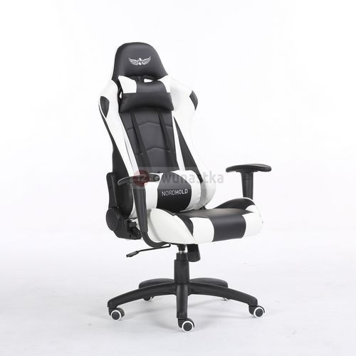 Obrotowy fotel gamingowy - ymir - biały marki Nordhold