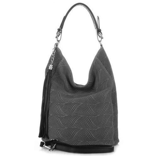 9aa33ee5fb08e Oryginalne włoskie torebki ze skóry szara (kolory) marki Genuine leather  300