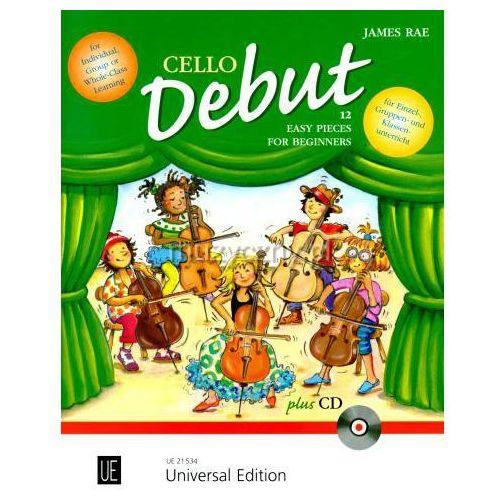 PWM Rae James - Cello Debut. 12 łatwych utworów dla początkujących wiolonczelistów (+ CD)