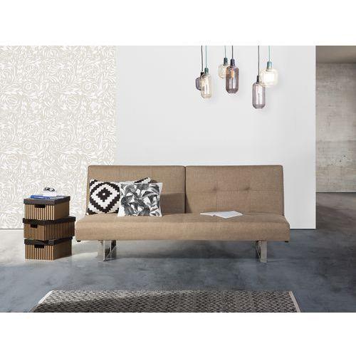 Sofa z funkcją spania beżowa - kanapa rozkładana - wersalka - DUBLIN