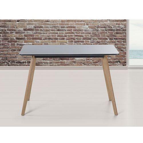 Stół do kuchni, jadalni lub salonu - czarny - 120x80 cm - fly marki Beliani