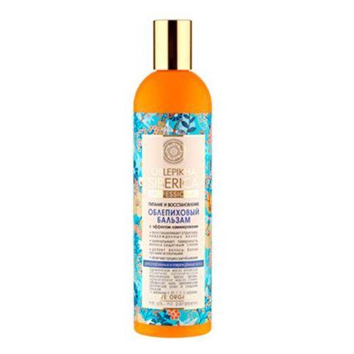 Natura Siberica Professional - balsam rokitnikowy z efektem laminowania do włosów osłabionych i zniszczonych - wyciąg z igieł jodły syberyjskiej, cladonia śnieżna, olej arganowy, syberyjski len, olej z rokitnika ałtajskiego ze sklepu Kosmetyki Naturalne Maya