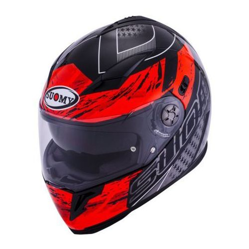 Kask SUOMY HALO Drift Red - integralny z blendą