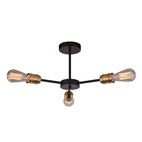 Lampa wisząca Candellux Goldie 3x60W E27 czarny + miedź bez żarówki 21-56160-Z, 33-55750-Z