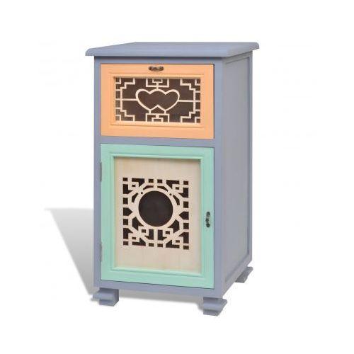 Szafka, 1 szuflada, 1 drzwi, pięknie zdobiona, vidaXL z VidaXL