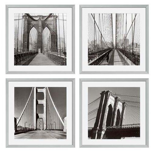 EICHHOLTZ Ec193 New York Bridges Zestaw Czterech Obrazów 59x59 cm - 06547 (obraz)