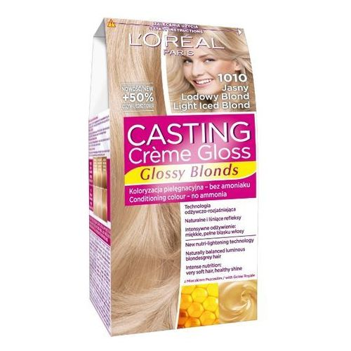 LOREAL Paris Casting Creme Gloss 1010 Jasny lodowy blond Farba do włosów, LOreal
