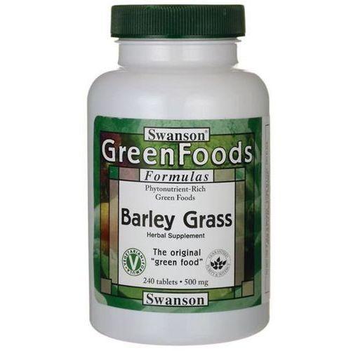 Swanson Młody Jęczmień (Barley Grass) 500 mg 240 tabletek