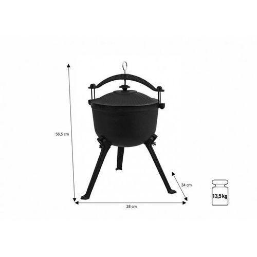 Kociołek myśliwski żeliwny | 7,5L | 380x340x(H)565mm