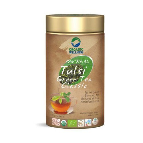 Organic wellness Herbata tulsi greentea classic w puszce 100g