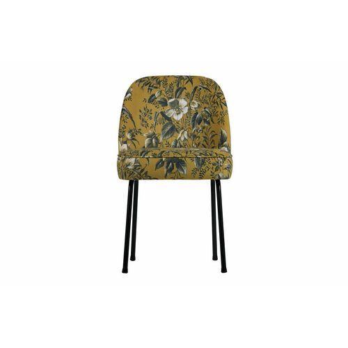 krzesło do jadalni vogue musztardowe z motywem kwiatowym 800816-40 marki Be pure