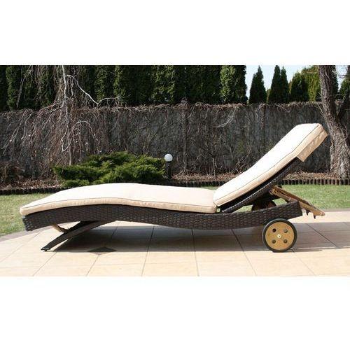 COMO leżak ogrodowy basenowy leżanka z technorattanu meble ogrodowe rattanowe zestaw NR86 - produkt z kategorii- leżaki ogrodowe