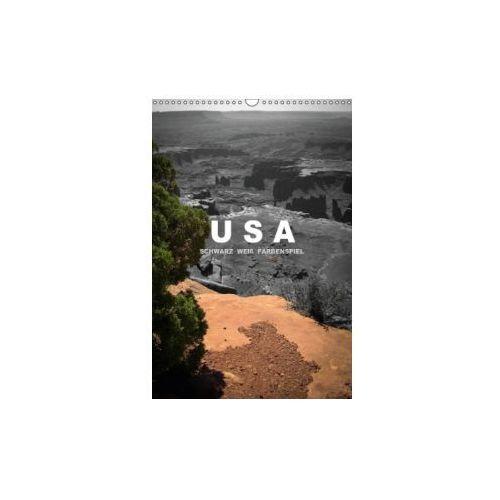 USA - Schwarz weiß Farbenspiel (Wandkalender immerwährend DIN A3 hoch)