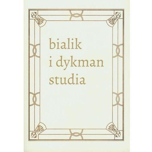 Literackie spotkania w międzywojennej Polsce. Chaim Nachman Bialik i Salomon Dykman, Austeria