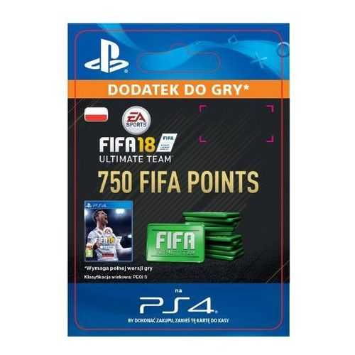 Fifa 18 750 punktów [kod aktywacyjny] marki Sony