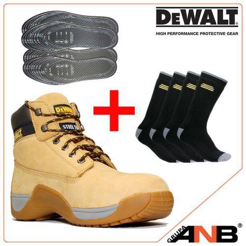 SUCHA STOPA! Zestaw promocyjny: Buty robocze DeWalt Apprentice + DODATKI! (obuwie robocze)