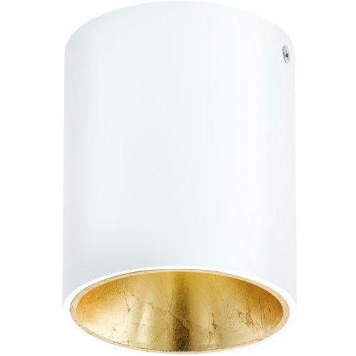 Plafon Eglo Polasso 94503 lampa oprawa sufitowa spot 1x 3,3W biały/ złoty LED, kolor Biały