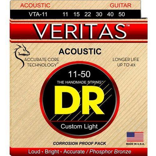 DR VERITAS - struny do gitary akustycznej, Custom Light,.011-.050