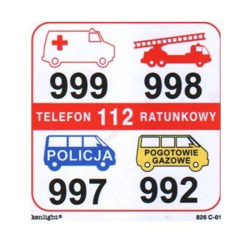 Znak telefony alarmowe (01) fb marki Techem