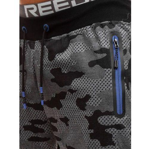 Spodnie męskie dresowe joggery moro-grafitowe Denley KK512