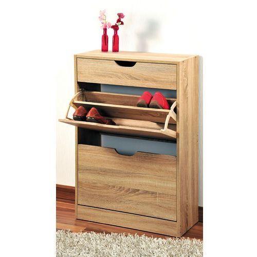 Wysoka szafka na buty z drewna w kolorze dąb sonoma, regał na buty, szafka na buty do przedpokoju, komoda na buty, drewniana szafka na buty, Kesper (4000270582172)