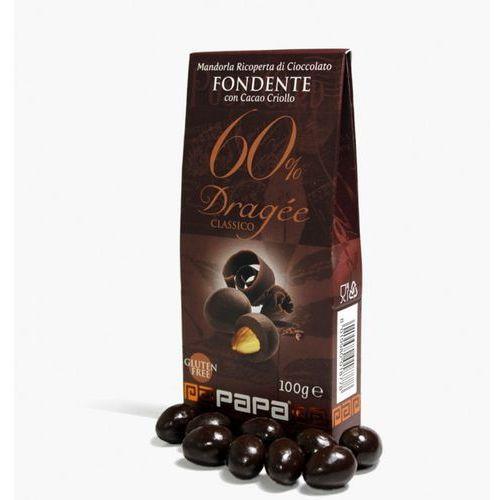 Papa Classico migdały w gorkiej czekoladzie 60% Criollo 100 g
