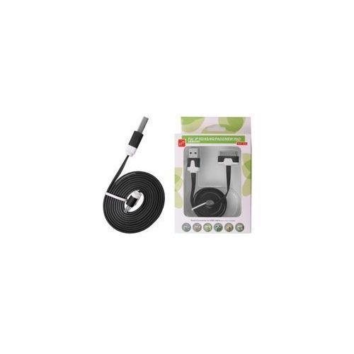 KABEL USB IPAD 3/2 IPHONE 4S/S PŁASKI CZARNY - produkt z kategorii- Kable, taśmy i przejściówki