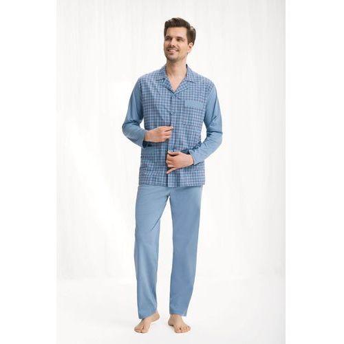 Piżama męska kod 797 rozpinana niebieski size plus marki Luna