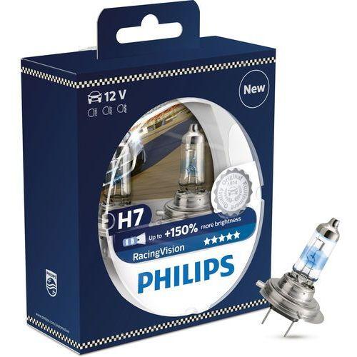 Philips Zestaw 2x żarówka samochodowa racingvision 12972rvs2 h7 px26d/55w/12v
