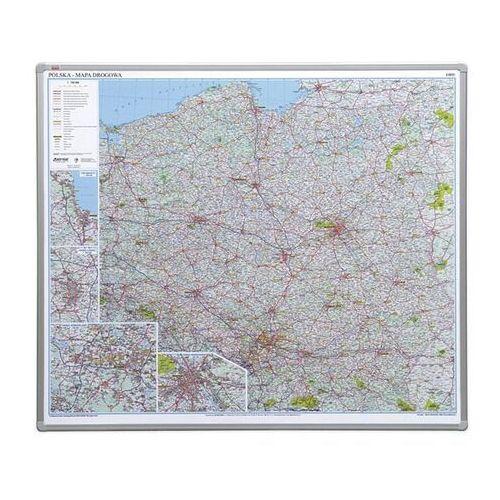 2x3 Tablica mapa polski drogowa (pinezki)
