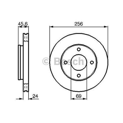 Bosch tarcza hamulcowa; przednia, 0 986 479 b83