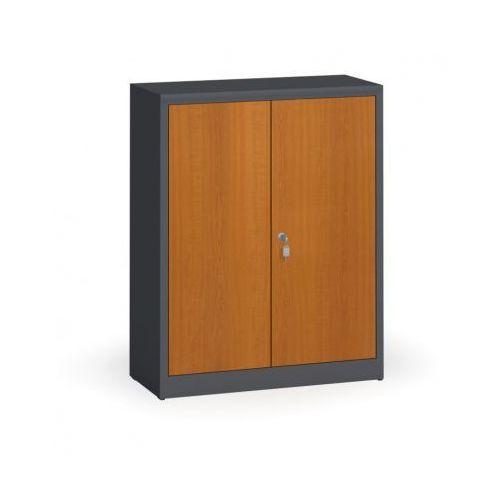 Alfa 3 Szafy spawane z laminowanymi drzwiami, 1150 x 920 x 400 mm, ral 7016/czereśnia