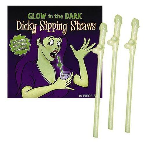 Świecące w ciemności słomki w kształcie penisków Dicky Sipping Straws (4892847994545)