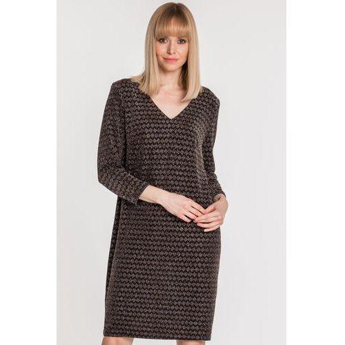3c953b55f3 Luźna sukienka z wiązaniem na plecach - Vito Vergelis