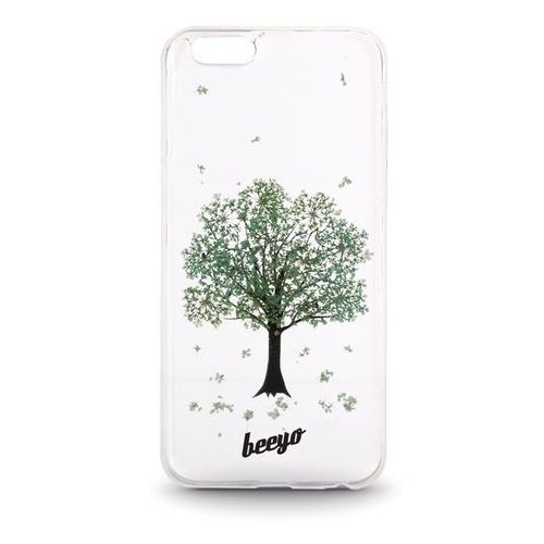 Silikonowa nakładka etui beeyo Blossom do Samsung J500 transparentna + miętowa