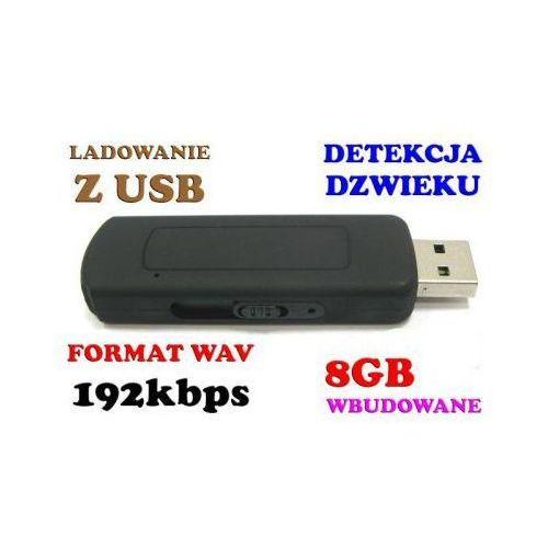 Mikro-Podsłuch Nagrywający Dźwięk, Ukryty w Pendrive 8GB (280h!) + Aktywacja Głosem (VOX). (podsłuch szpiegowski)